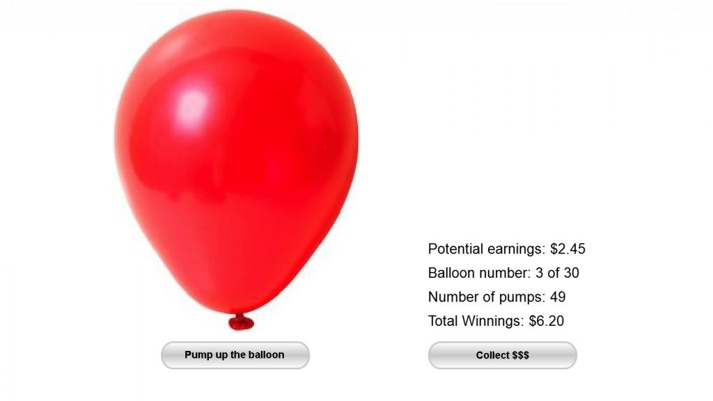 Balloon Analogue Risk Task (BART)