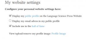 Website settings