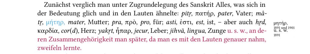 "Margin notes and coloured text in the critical edition of Gabelentz's ""Die Sprachwissenschaft"""